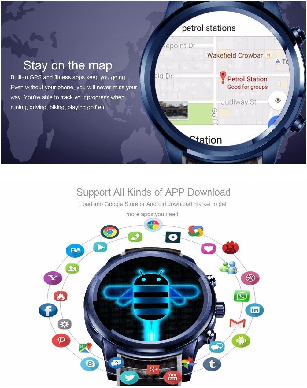 Amazon.com: ⌚ New LEMFO LEM5 Pro : Android 5.1 Smart Watch ...