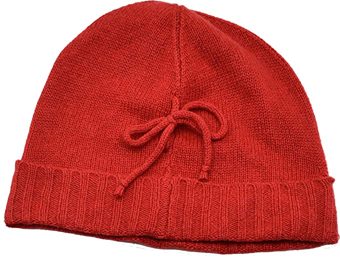 036beff2ceeb7 Charter Club Cable Knit Touch of Cashmere Bow Beanie Hat (Scarlet) at  Amazon Women s Clothing store
