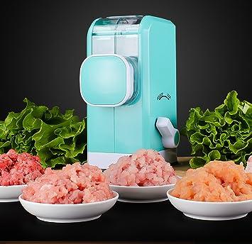 VLUNT Picadora de Carne Manual Picadora de Verduras , 6 Cuchillas de Acero Inoxidable,Picadora