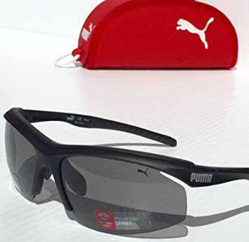 7f1f532c19 PUMA Eyewear Sunglasses PU14706P Sport Wrapped grey Polarized Lenses   Amazon.ca  Beauty