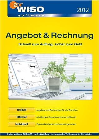 Wiso Angebot Rechnung 2012 Download Amazonde Software
