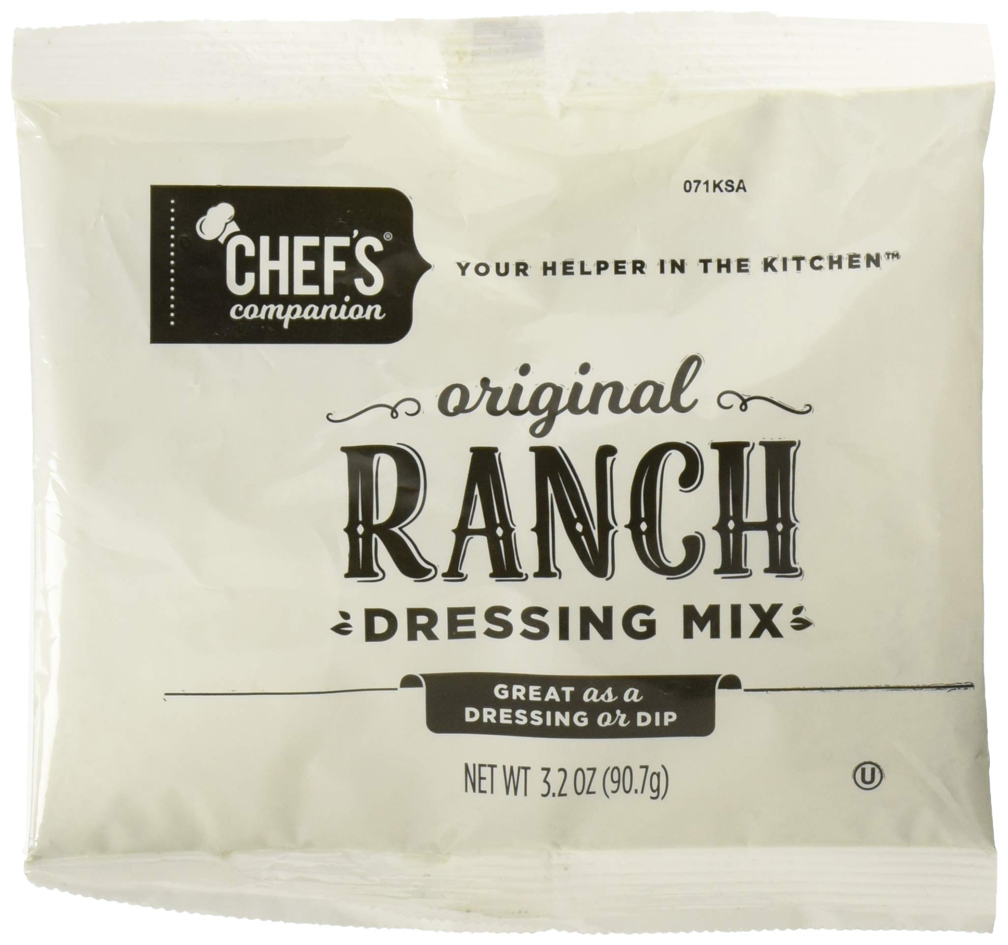 Chef's Companion Ranch Dressing Mix Pouch 3.2 Oz (Pack of 18) by Chef's Companion