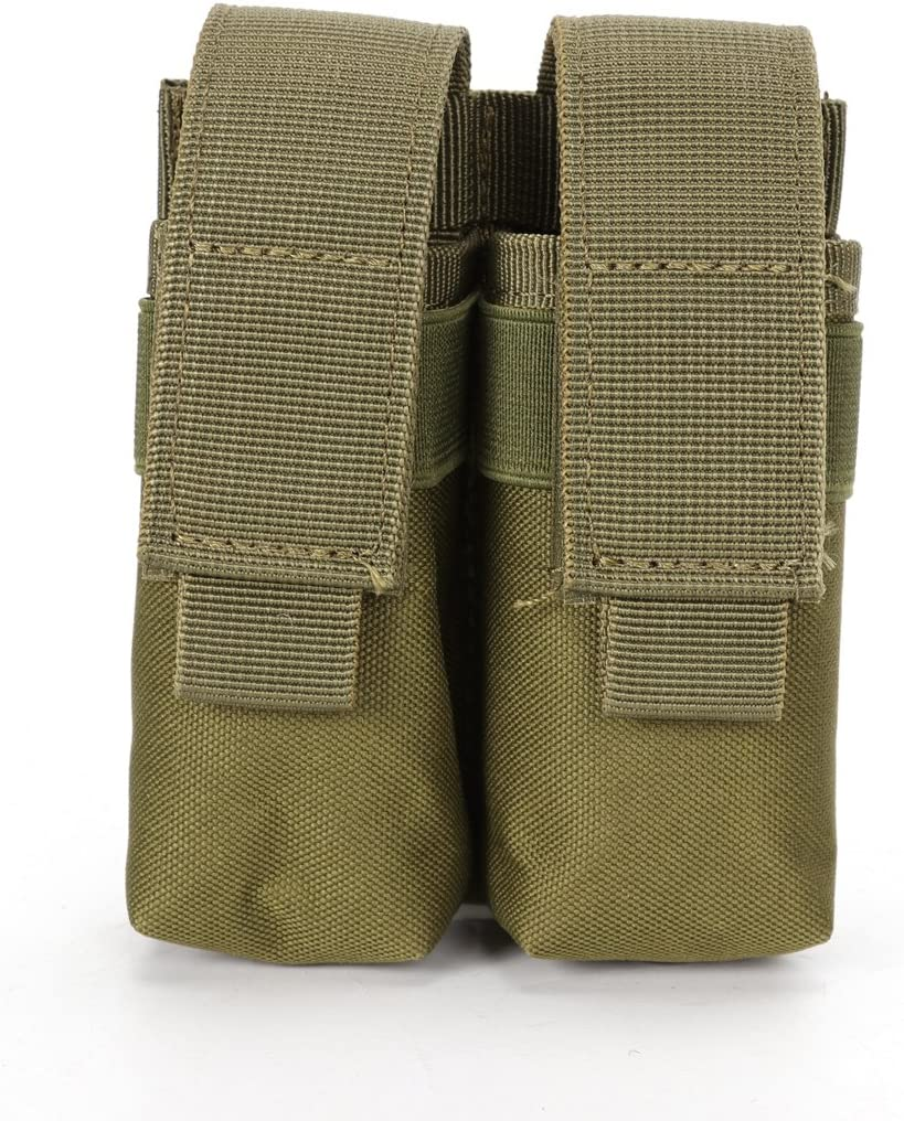 Tactical Belt Clip Molle Double Magazine Pouch Pistol Mag Holder Bag  SL