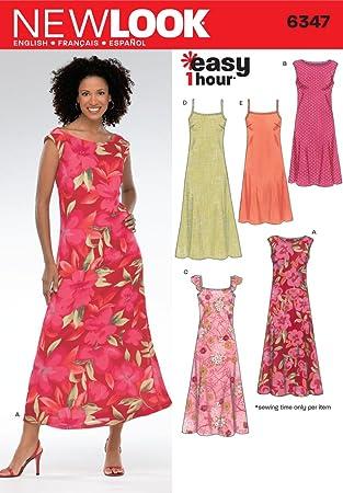 New Look Einfache Schnittmuster Kleider, 1 Stunde, 6347: Amazon.de ...