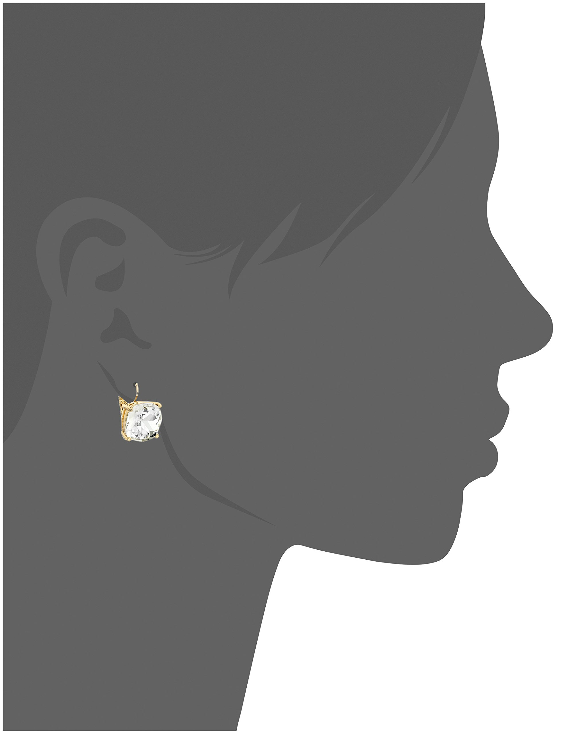 kate spade new york Kate Spade Earrings Small Square Clear Leverback Earrings by Kate Spade New York (Image #2)