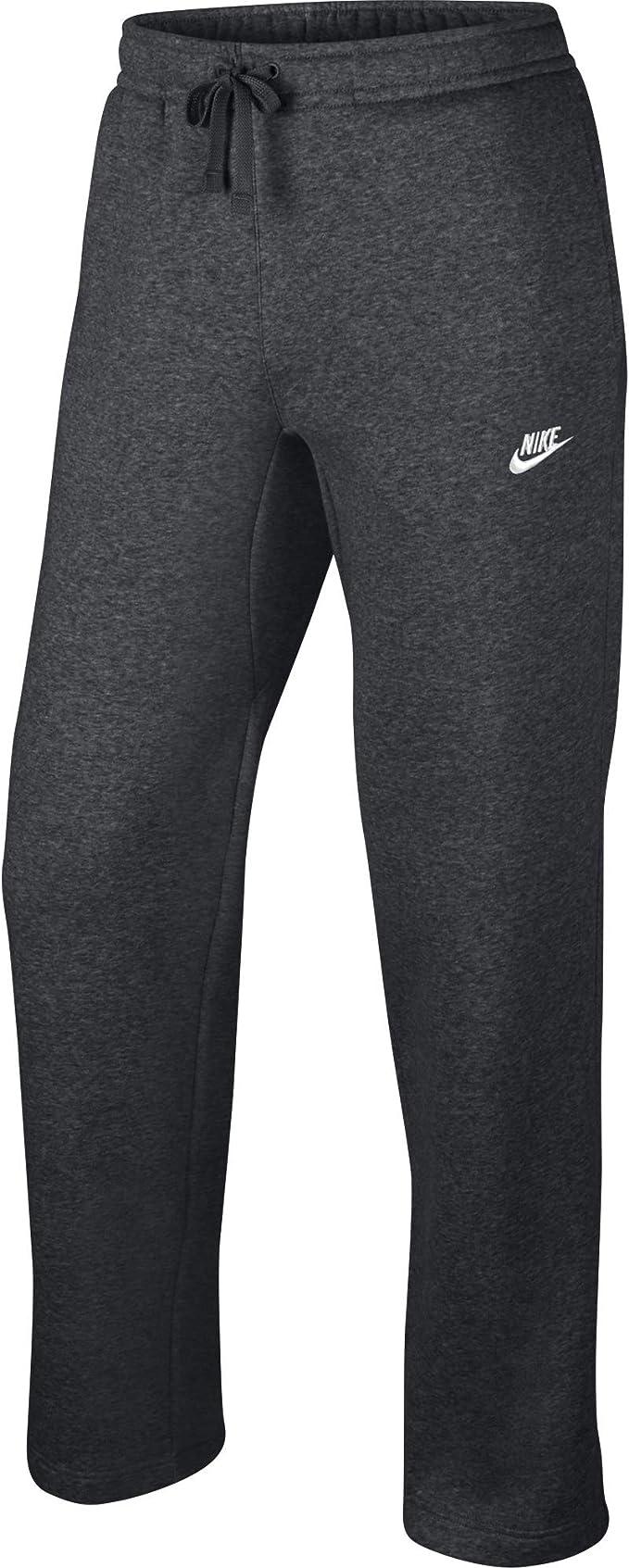 Nike Men's Sportswear Open Hem Club Pants, Charcoal Heather/White,  XXX-Large Tall