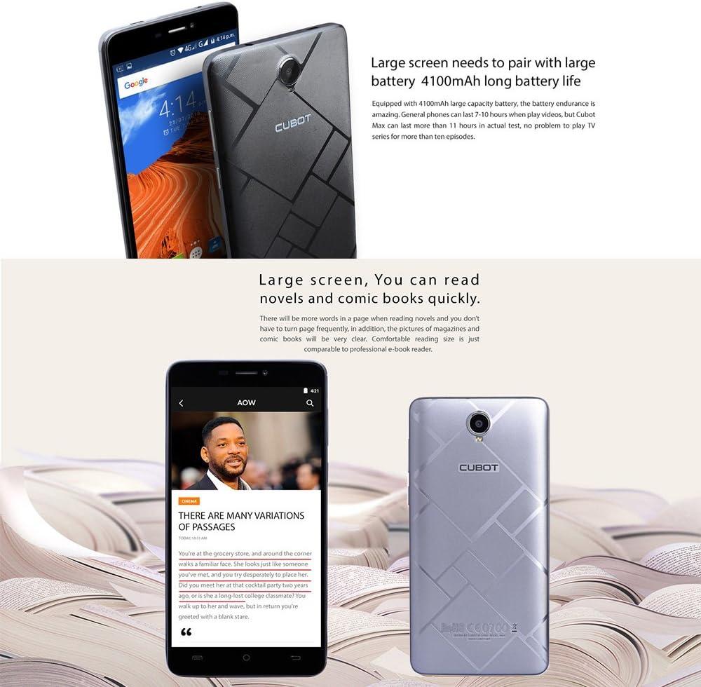 Cubot MAX Móvil y Smartphone Libre,Teléfono Móviles 3GB+32GB,6.0 ...