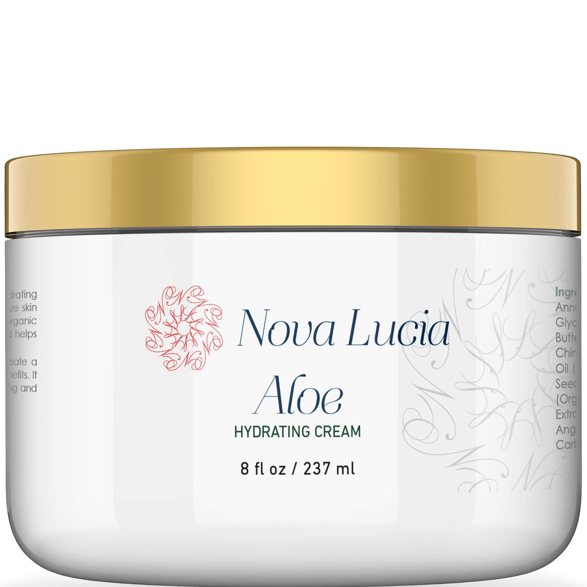 Hawaiian Aloe Vera Face Moisturizer Night Cream Sunburn Relief Face Cream Eczema Cream Lotion For Dry Skin & Wrinkle Cream For Women Compare With Aloe Vera Gel 100 Percent Pure Aloe Vera Juice 8 oz