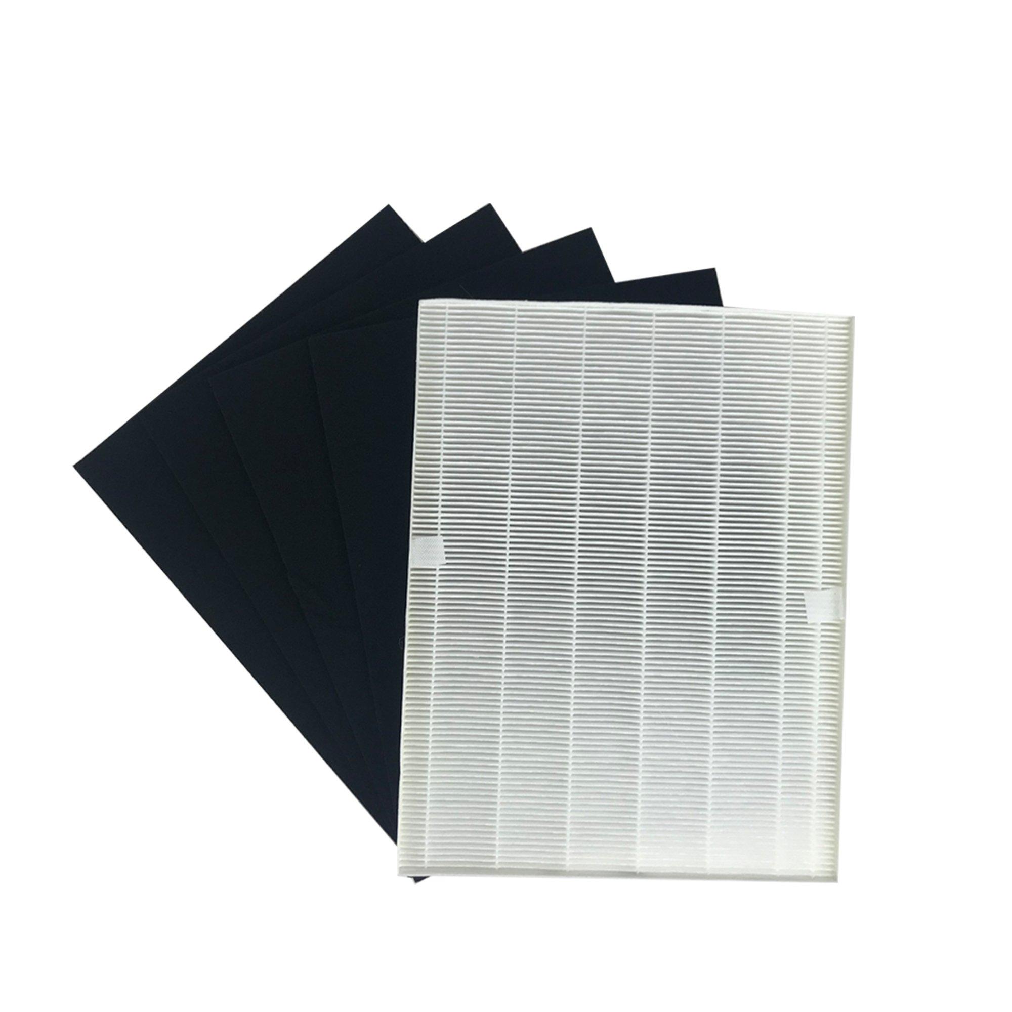 1 Electrolux EL024, EL017 & EL500 HEPA FIlter & 4 Carbon Filters, Compare to part # EL024, EL017 & EL500, Designed & Engineered by Crucial Air