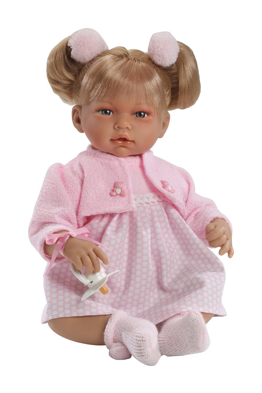 Muñecas Guca Dolls Guca – Alba Doll with Dress and Jacket Pink, 38 cm (10040)