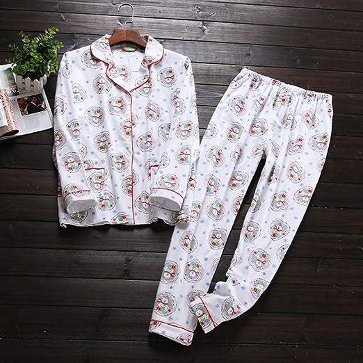 HIUGHJ Pijamas de algodón de Dibujos Animados Lindos Conjuntos de ...