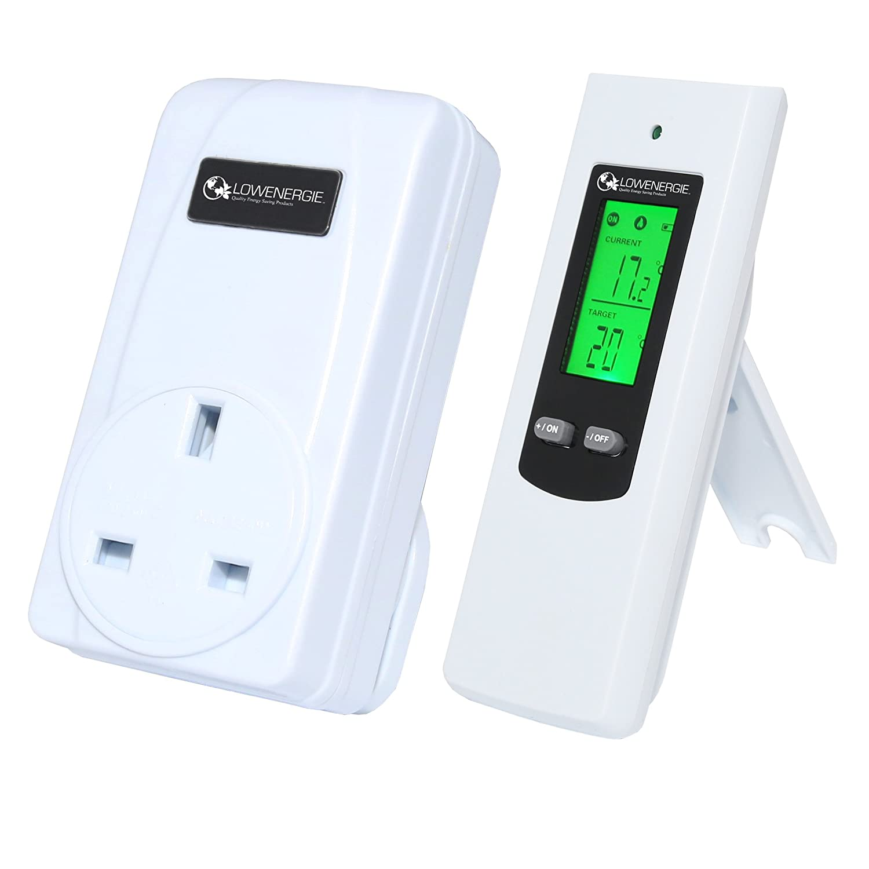 Wireless Digital Plug in Heating Thermostat Remote Control Electric RF  Socket Greenhouse
