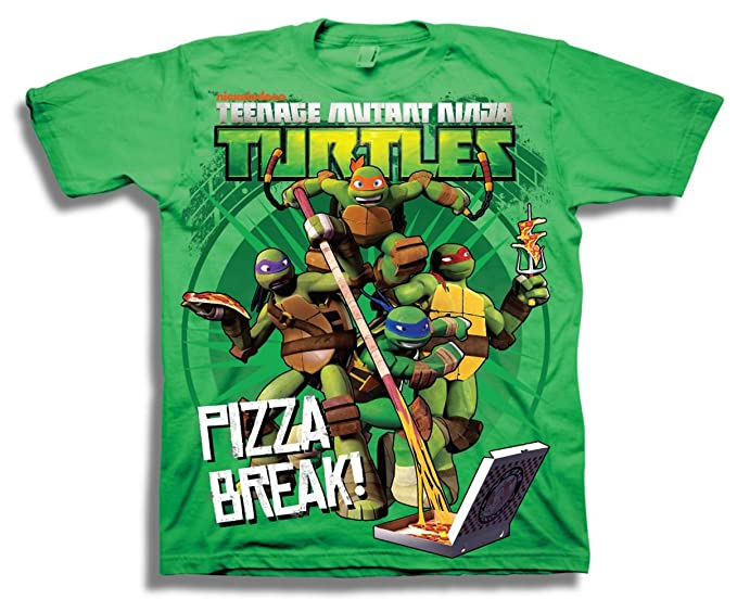 Teenage Mutant Ninja Turtles Pizza Break BoyJuvy T-Shirt Green