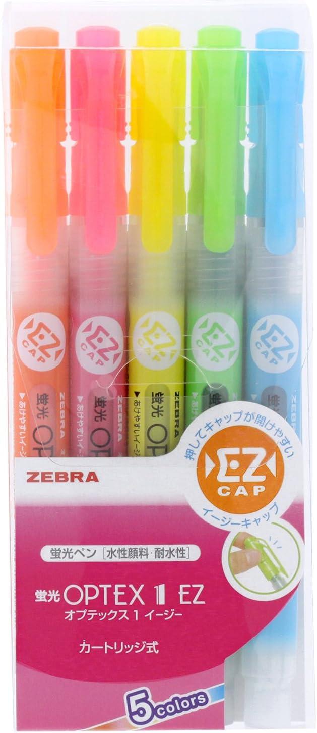 JAPAN  Zebra WKT7-10C MILDLINER Highlighter 10 Color Set W// TRACK