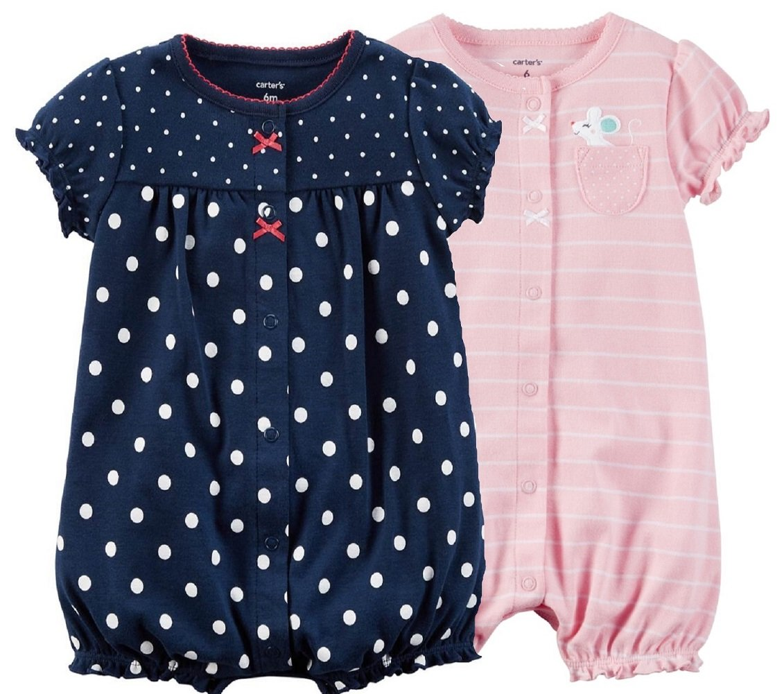 Carter's Baby Girls' 2-Pack Rompers