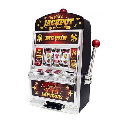 Balvi Juego Las Vegas Máquina tragaperras Doble función: Juego de Azar y Hucha Pilas: