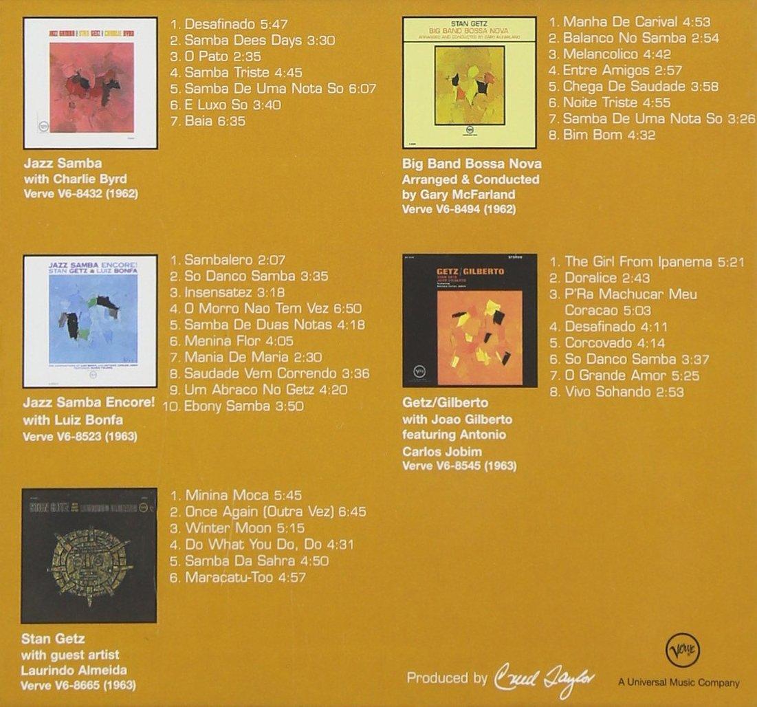 543fd49a2cf47d Stan Getz - The Bossa Nova Albums [5 CD Limited Edition Box Set] -  Amazon.com Music
