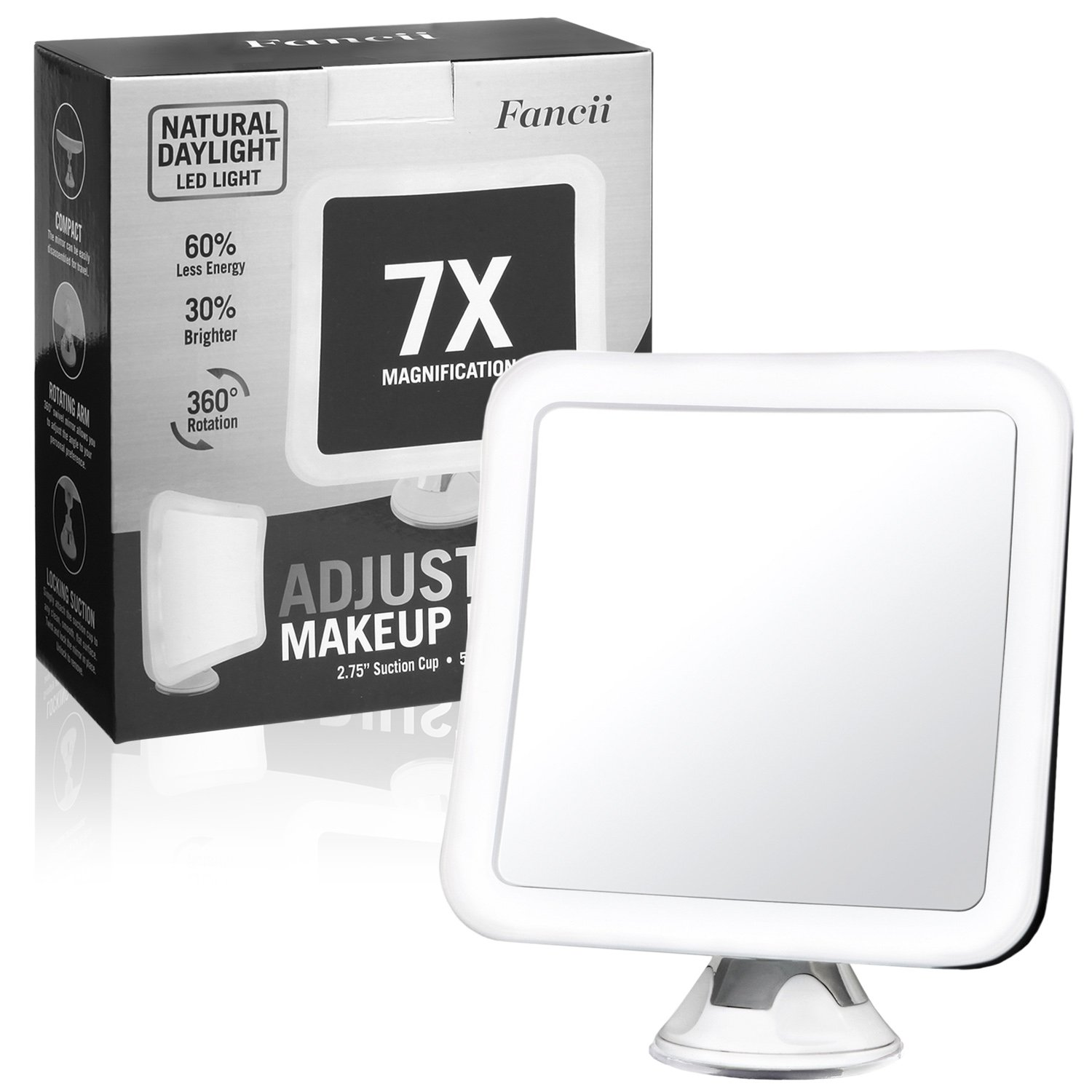 Fancii 7x Led Lighted Magnifying Makeup Mirror With Strong