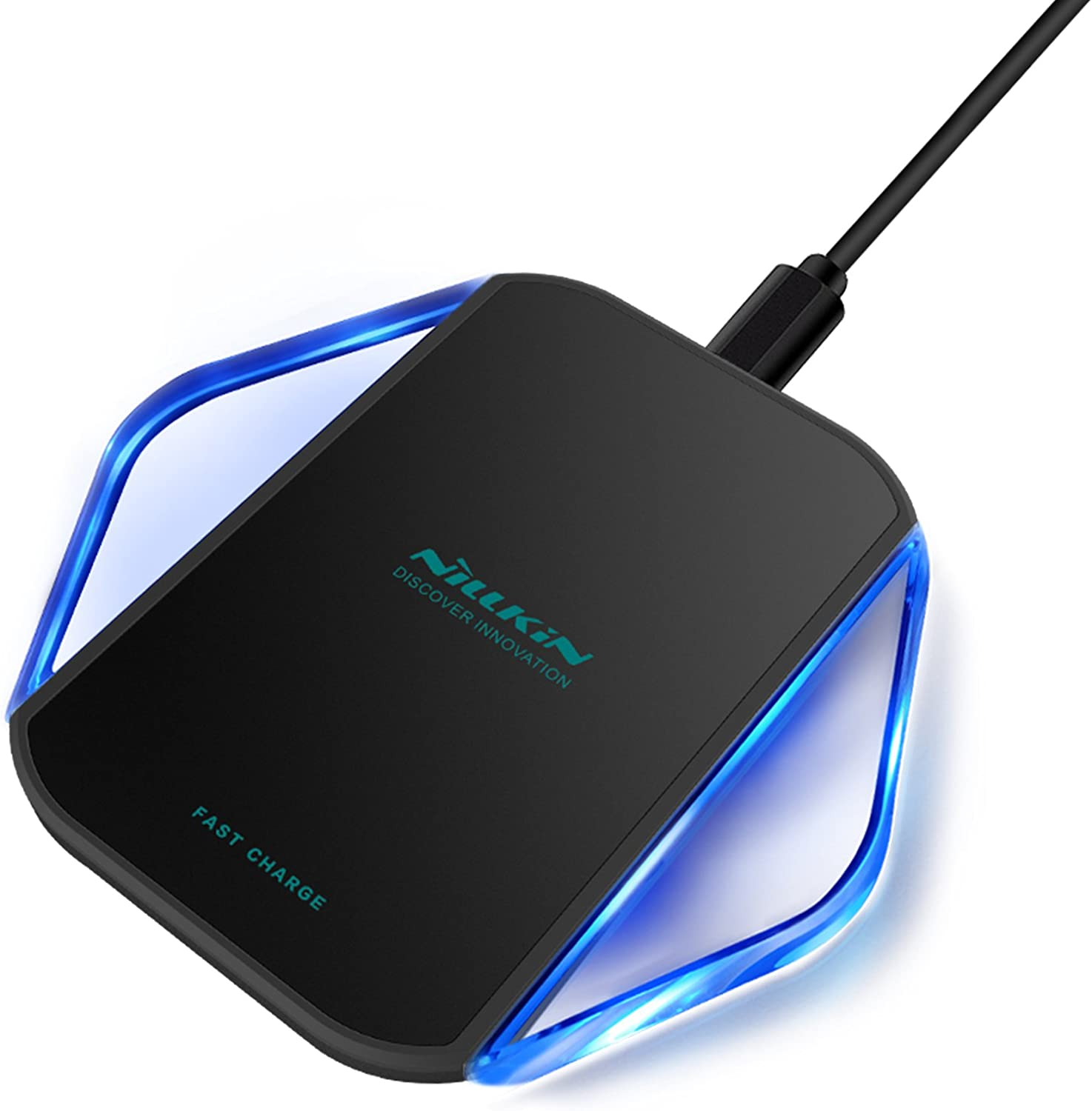Wireless Charger, Nillkin Magic Cube Wireless Charging Pad [Fast Charge Version] for iPhone Xs Max/XR/XS/X/8/8 Plus, Pixel 3/3XL, Samsung Galaxy Note 9/S10/S10 Plus and More - Black