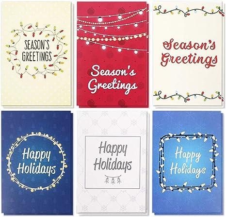 Amazon.com: Paquete de 36 tarjetas de felicitación navideñas ...