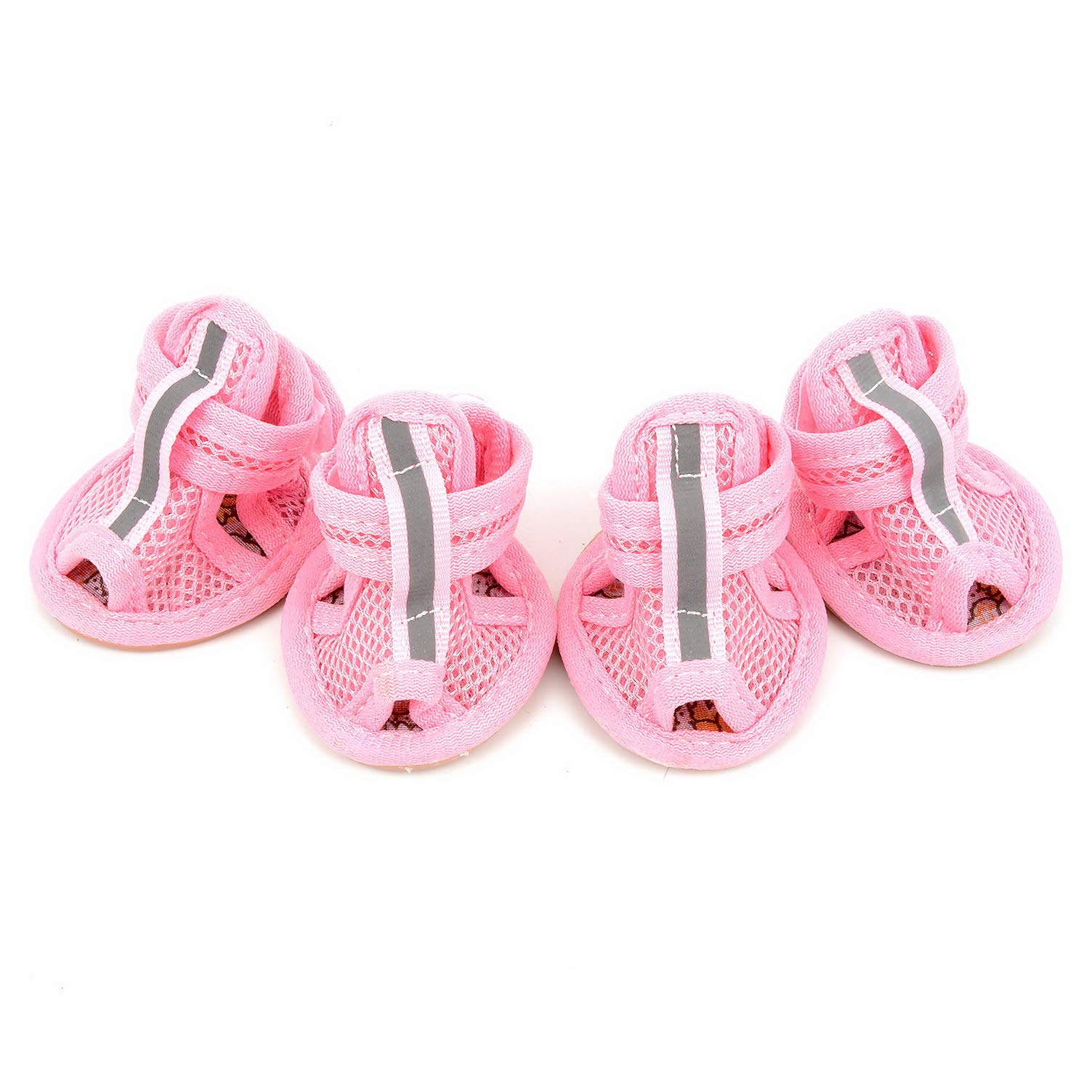 smalllee_lucky_store Girls Boys Summer Adjustable Breathable Sandals Rubber Sole Mesh Shoe, Small, Pink
