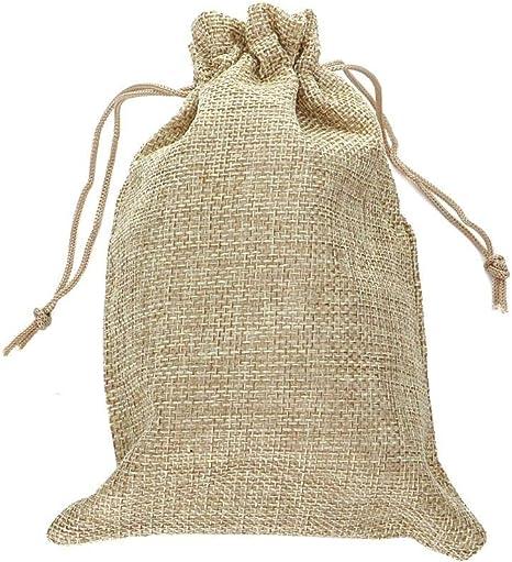 Saco Navidad Bolsas de arpillera con cord/ón Gris RUBY Bolsas de Regalo bolsitas Regalos bolsitas de Tela Bolsas Yute para Joyas 100 bolsitas Saco de Yute Saco carb/ón