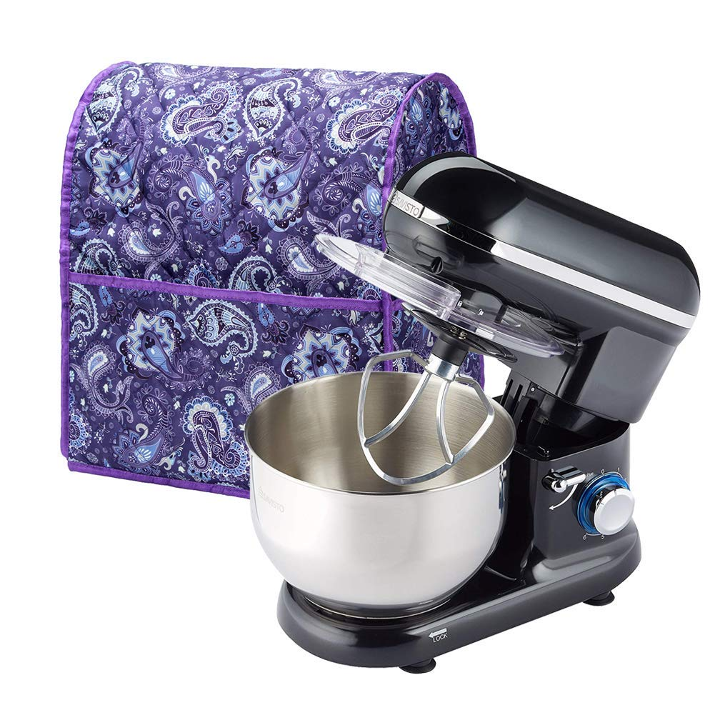 Stand Mixer Cover Dustproof Quilted Kitchen Mixer Protector, Anti Fingerprint Protection Kitchen Small Appliance Organizer Bag Compatible 4.5-6 Quart Mixer - Machine Washable CYFC46