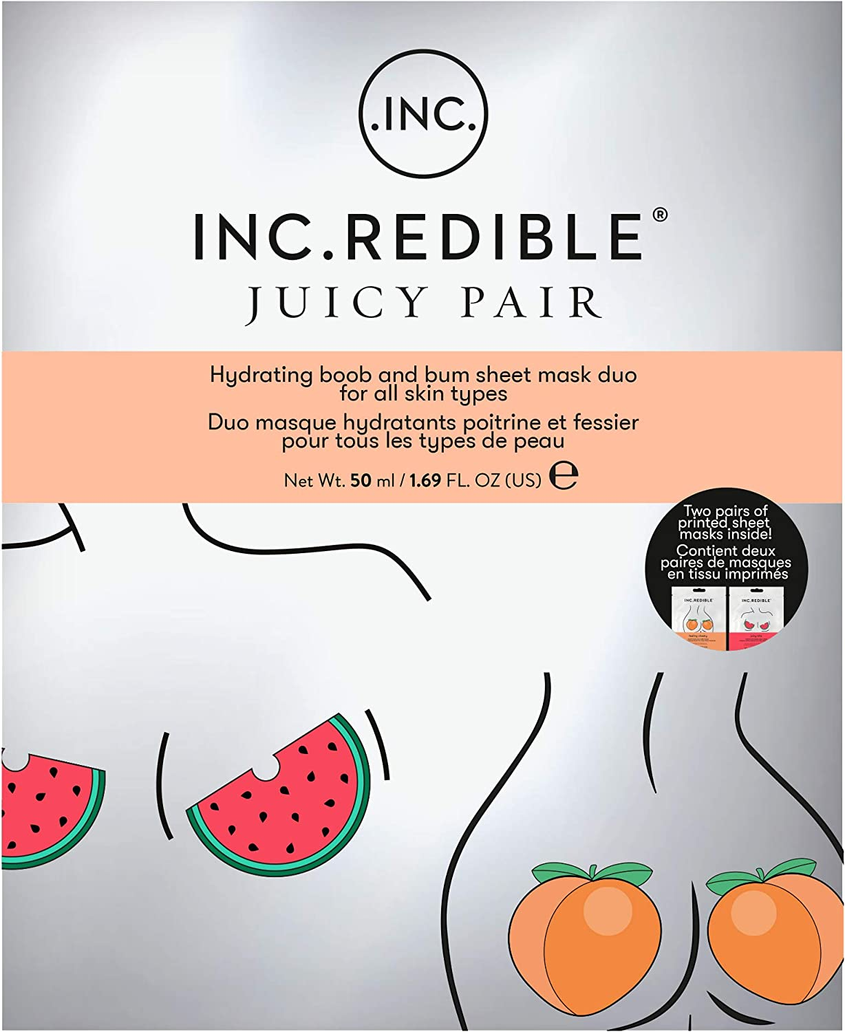 INC.redible Juicy Pair Boob and Bum Mask Duo