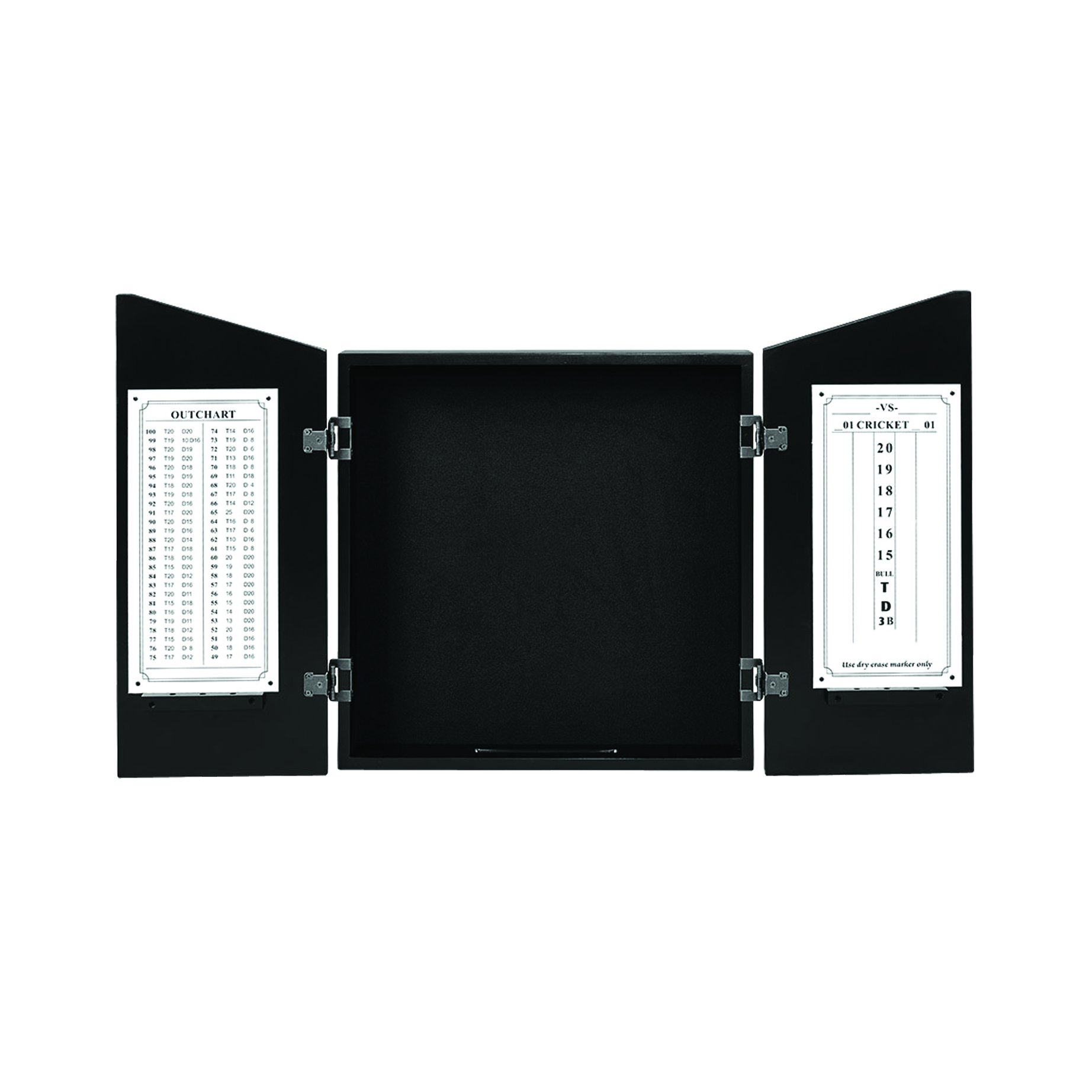 RAM Gameroom Dartboard Cabinet - Black