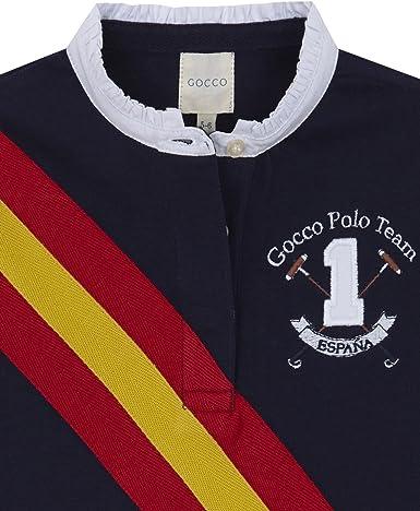 Gocco Polo Bandera España, Azul (Marino A4), 3-4 años para Niñas ...
