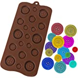 Luxbon Fastener Shape Candy/Ice/Cake/Chocolate/Sugar Craft Fondant Mold/Tray Silicone Decorating Tools Randomly Color