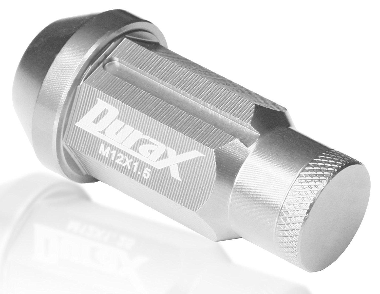 デュラックス(Durax) ホイールナット 20個セット アルミ製 ロックナット付 P1.5 M12 50mm 袋型 銀 BBP150SLFR B06XDMKSN6