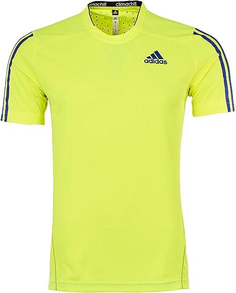 Ewell correcto precoz  adidas Mens T Shirt función formación Fluorescente Jersey Athletic Camiseta  de Manga Corta New (4 x l 52/54): Amazon.es: Deportes y aire libre