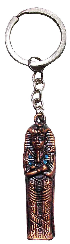 Egypt Keychain KeyRing Pharaoh Scarab Nefertiti Cleopatra Bastet Tut Pewter  208