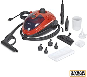 AutoRight C900054.M Red SteamMachine Multi-Purpose Steam Cleaner, 11 Accessories Included, Steamer, Steam Cleaners, Steamer for cleaning, Power Steamer
