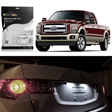 amazon com: partsam ford f-150 1997-2003 white interior led light package  kit dome map reading lamps license plate step courtesy light bulbs (7  pieces):