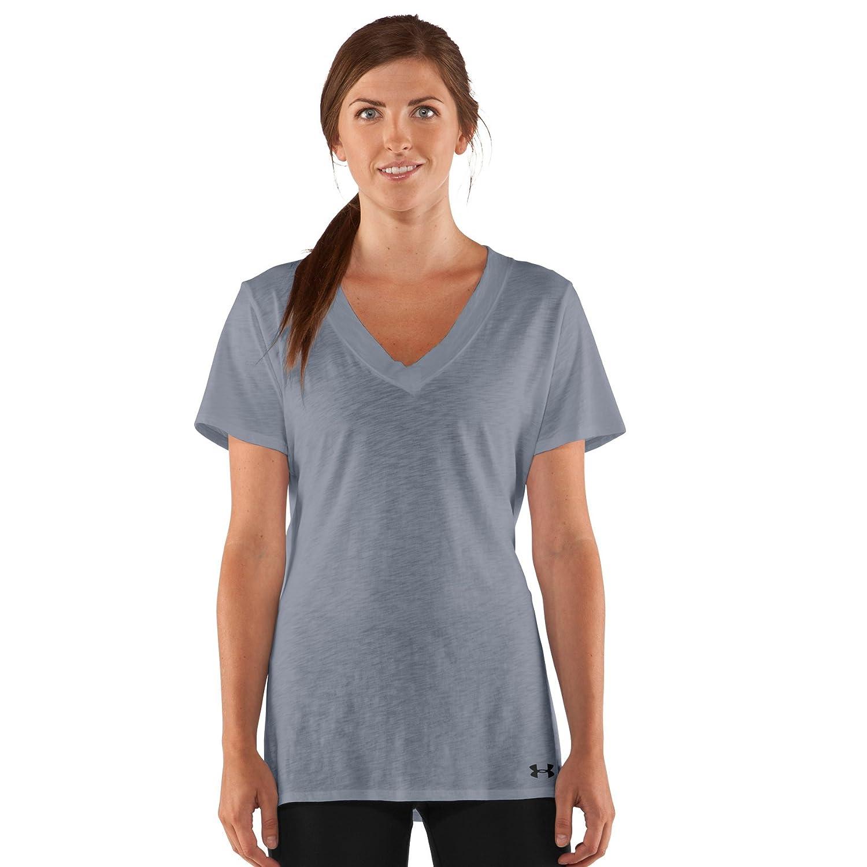 a5b134ce6 Amazon.com: Under Armour Women's Charged Cotton Slub T-Shirt Black: Sports  & Outdoors