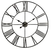 Overstock.com deals on Solange Round Metal Wall Clock