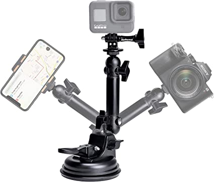 Sony y Otras Deportes Acci/ón C/ámaras para GoPro Hero 7 // 6 // 5 // 4 // 3+ // 3 // 2 // 1 Canon Ventosa para Coche EXSHOW Soporte para C/ámara Nikon