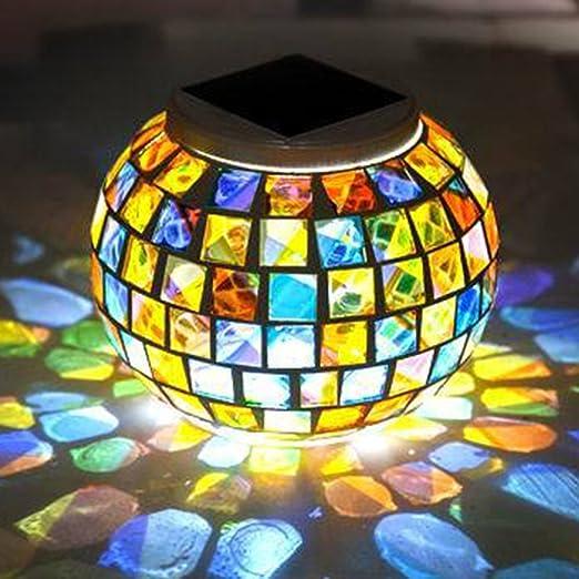 Lámpara de mesa de cristal solar con diseño de bola de ...