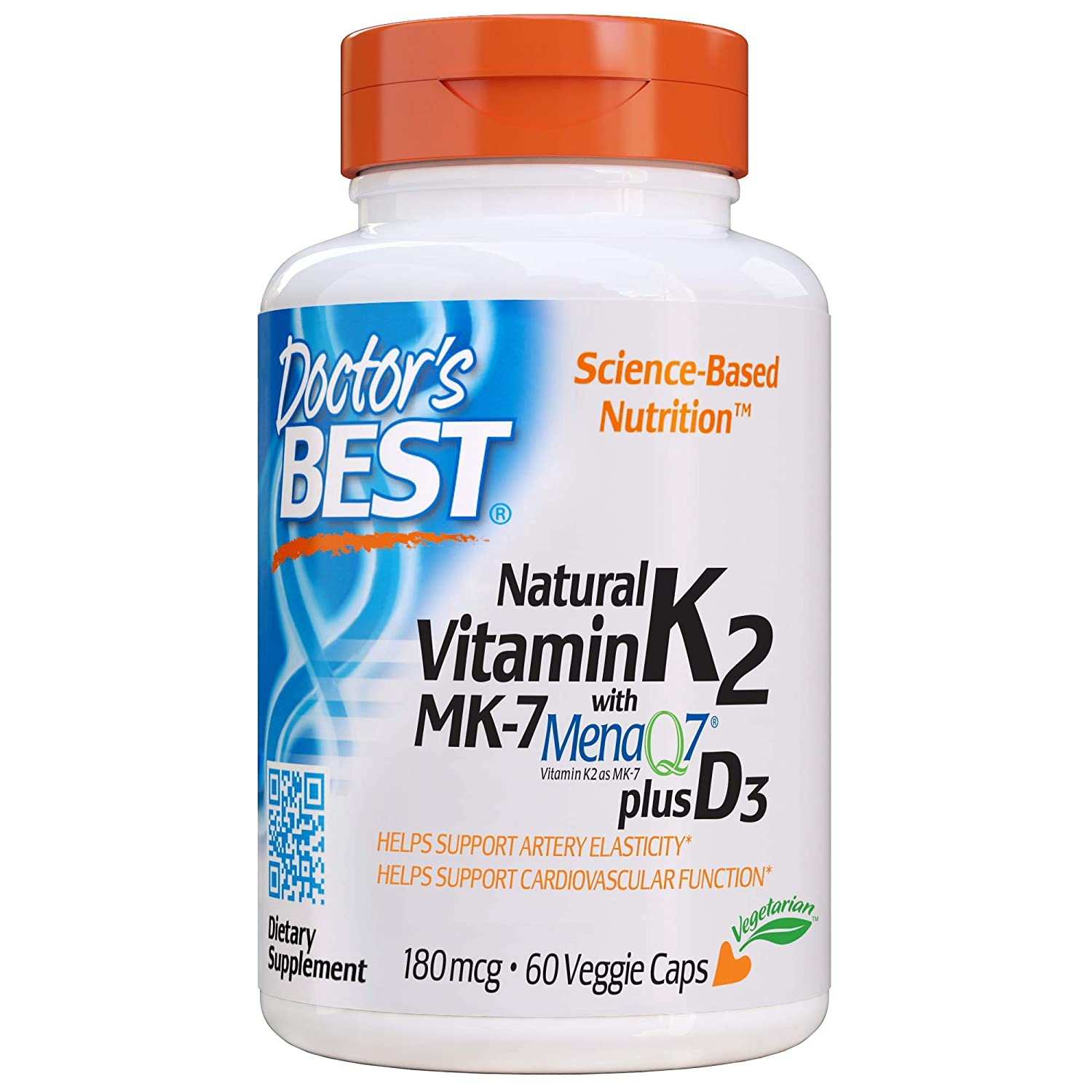 Doctors Best Vitamina Natural K2 Mk7 Con Menaq7 Plus D3, 180Mcg ...