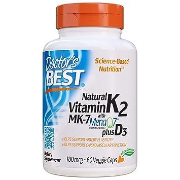 Doctors Best Vitamina Natural K2 Mk7 Con Menaq7 Plus D3 ...