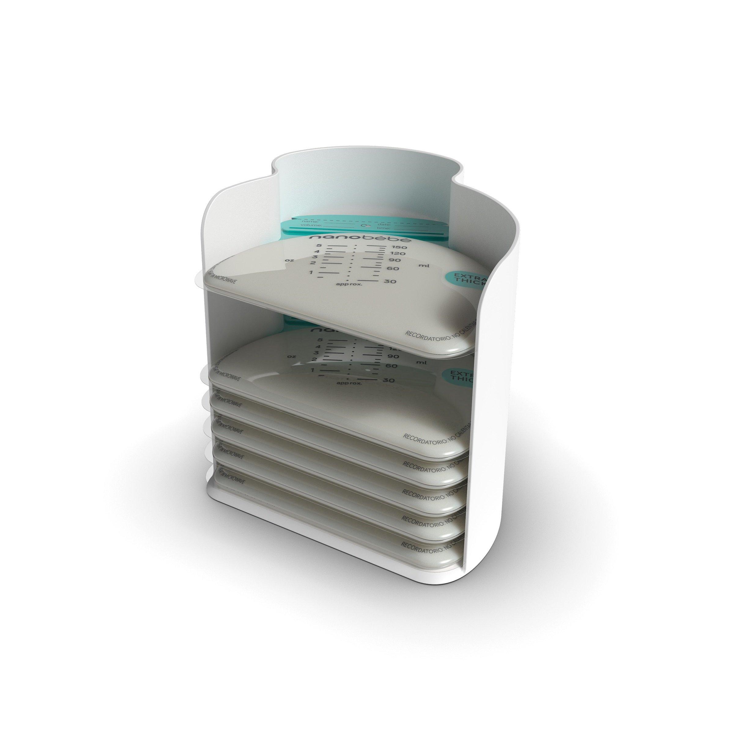 Amazoncom nanobebe Breastmilk Freezer Storage Bags 50 Pack Flat