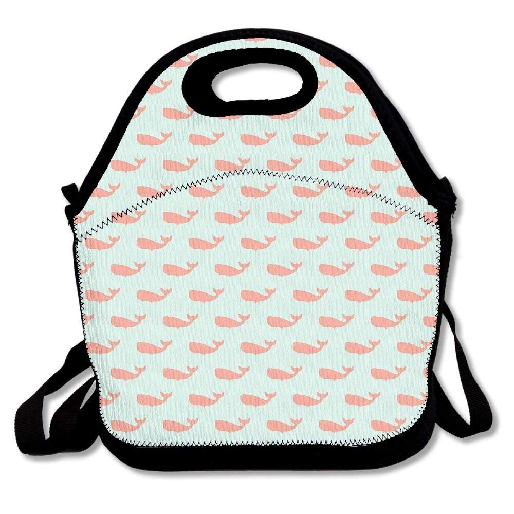 Preppy Whale Spa Unisex Cute Convenient And Easy To Carry Bento Lunch Bag For Picnic Travel Tote Lunch Bag Bento Bag Handy Bag