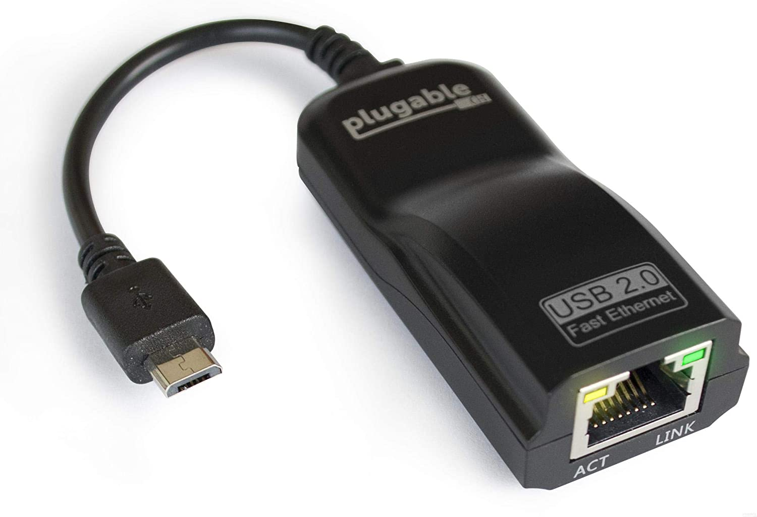 Amazon Com Plugable Usb 2 0 Otg Micro B To 100mbps Fast Ethernet Adapter Compatible With Windows Tablets Raspberry Pi Zero And Some Android Devices Asix Ax88772a Chipset Computers Accessories