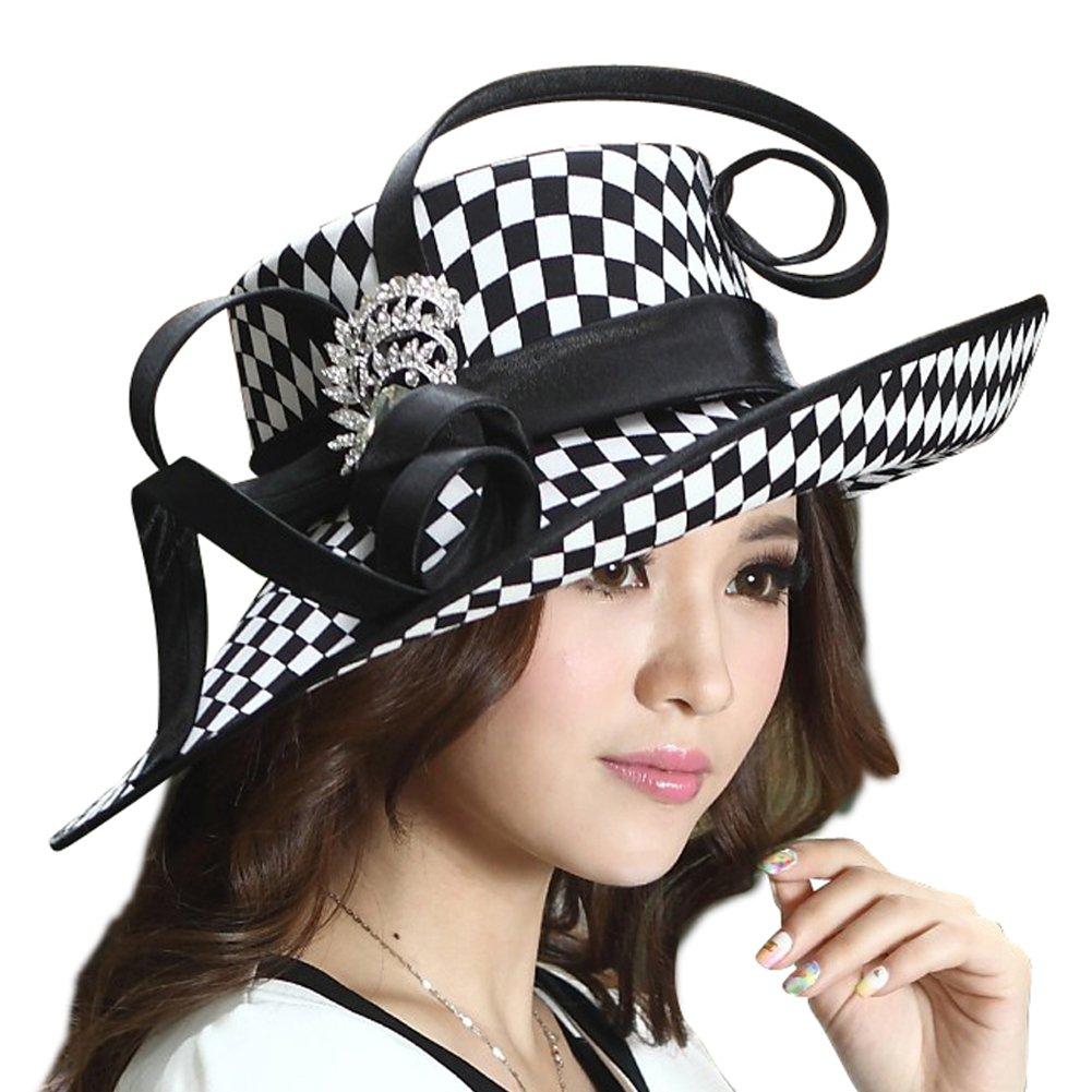 Junes Young Ladies Satin Dress Hat Church Hat Formal Hat