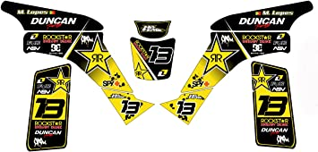 Kit de adhesivo gráfico de vinilo MX amarillo personalizable ...