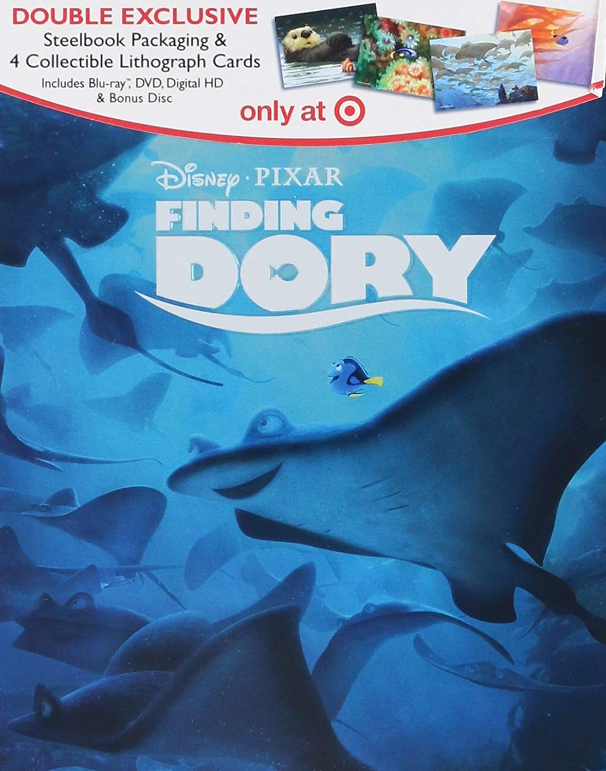 Finding Dory Double Exclusive Steelbook Packaging With 4 Collectible Lithograph Cards Blu Ray Dvd Digital Hd And Disc Blu Ray Ellen Degeneres Amazon Com Br Dvd E Blu Ray