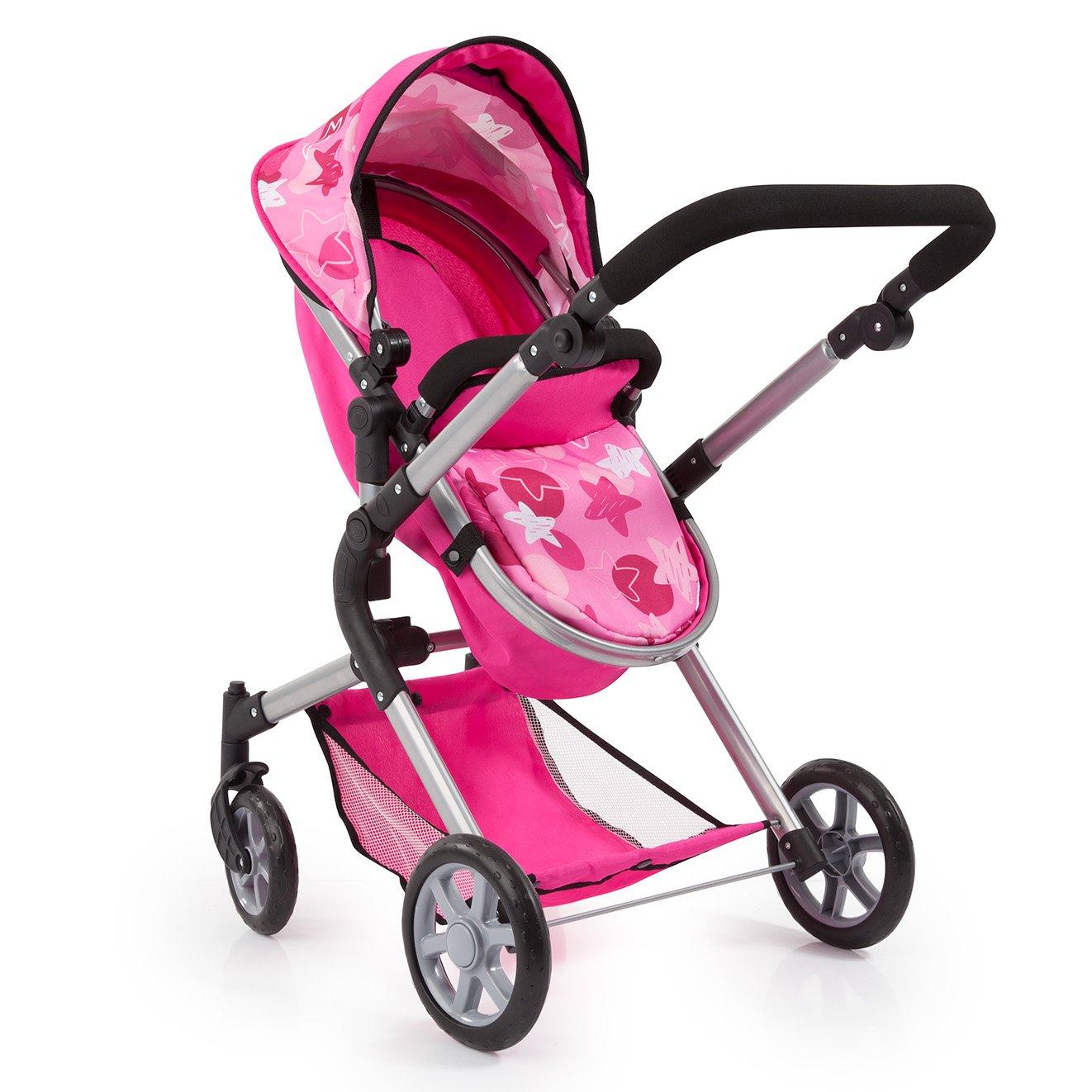 Amazon.es: Bayer Design 18149 AA Carrito para muñecas Neo Star con Bolso Cambiador y Cesta de la Compra Debajo Convertable para Carrito de bebé, ...