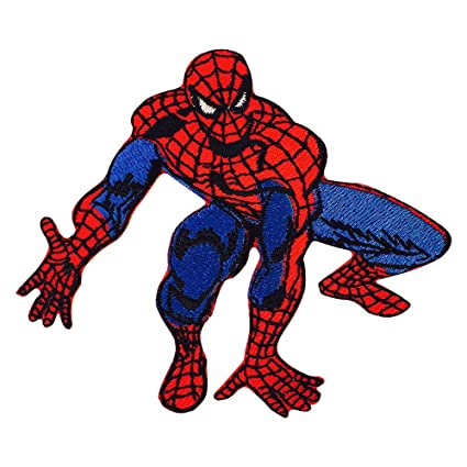 edd0db6c8556 Image Unavailable. Image not available for. Colour  Real Empire Spiderman Embroidered  Iron On Sew On Logo Badge Patch Marvel DC Comics Fancy Dress